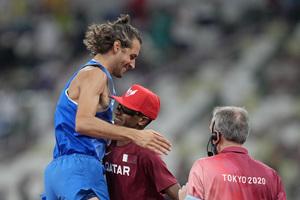 Ολυμπιακοί Αγώνες: Μπαρσίμ και Ταμπέρι συναποφάσισαν να μοιραστούν το χρυσό στο ύψος! (video)