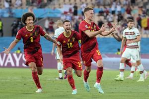Βέλγιο-Πορτογαλία 1-0: O Αζάρ «καθάρισε» την πρόκριση